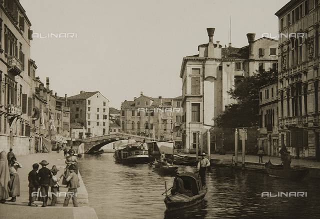 Animated view of the Rio di Cannaregio, Venice