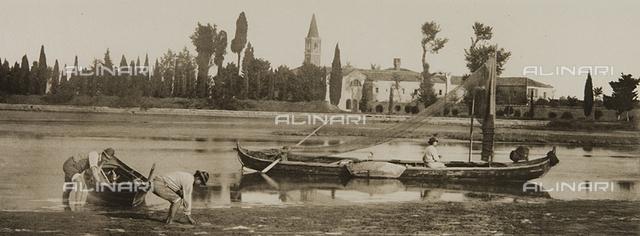 A canal of the lagoon, near Venice