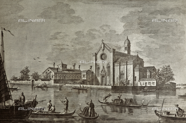 Church of St. Helena in Venice, engraving