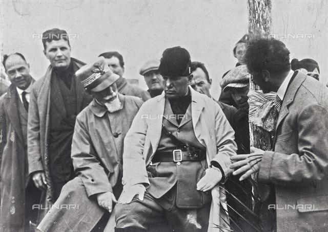 "Album ""Duce"": Benito Mussolini during his trip to Tripoli with General Emilio De Bono"