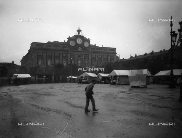 View of the Town Hall in Piazza della Libertà in Alessandria