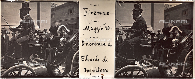 Authorities carriage for subsequent honors the death of King Edward VII of England, Florence; stereoscopic image