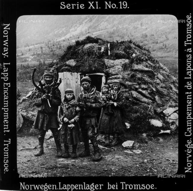 Lapps Family farmers of Tromsภ(in Sami Roms), Norway