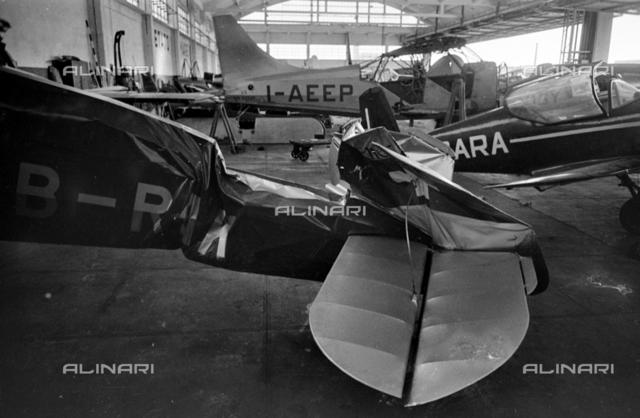 Damaged plane