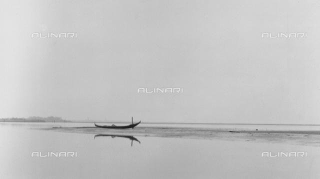 """""""Viper,"""" boat in the lagoon of Venice"""