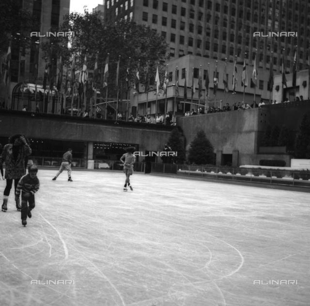 Ice rink at Rockefeller Center in Manhattan, New York City