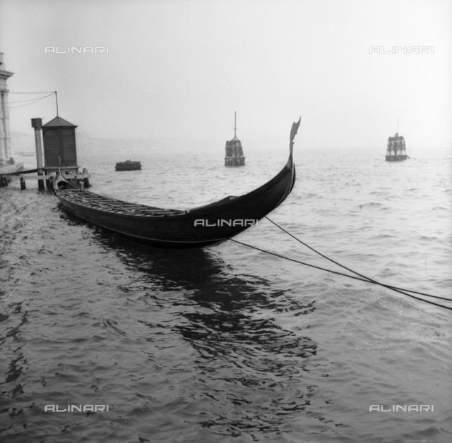Gondola in Venice lagoon