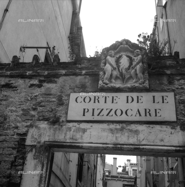 Entrance to the Court of Pizzocare in Venice