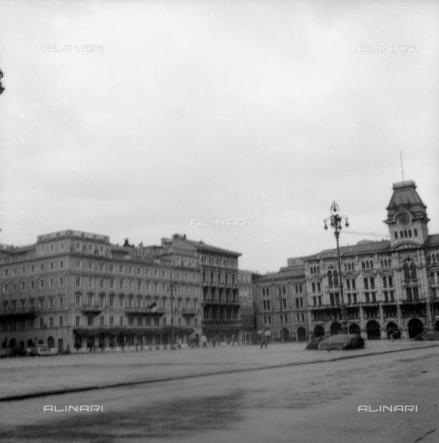 Piazza Unification of Italy (formerly Piazza Grande) with the Town Hall in Trieste