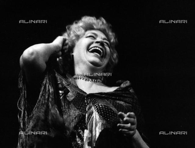 Jole Silvani mentre recita in 'El triestin in carega'