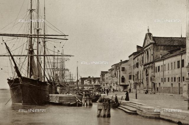 View of the Fondamenta delle Zattere along the Giudecca Canal, Venice