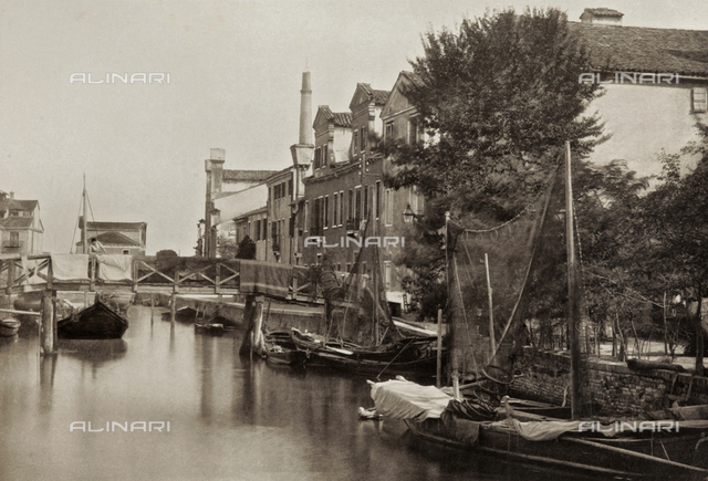 View of a canal in the Island of Giudecca, Venice