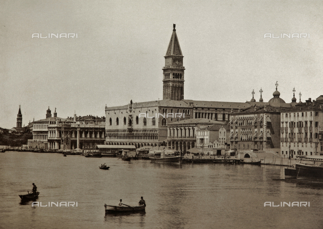 The Bank of the Schiavoni seen from the Island of San Giorgio Maggiore, with the Bell Tower of San Marco and the Palazzo Ducale, Venice
