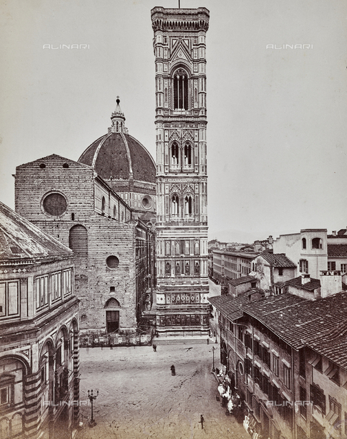 "Bell tower of Cathedral of Santa Maria del Fiore, called ""Campanile di Giotto"", Florence"