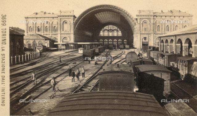 Turin: interior of the railway station of Porta Nuova