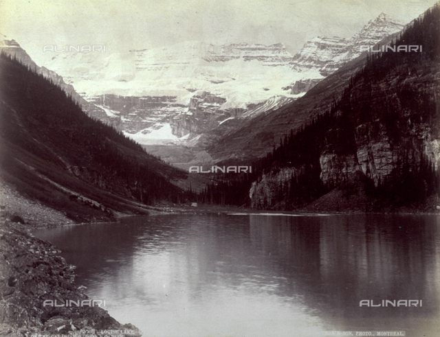 Lake Louise in the Rocky Mountains in Canada