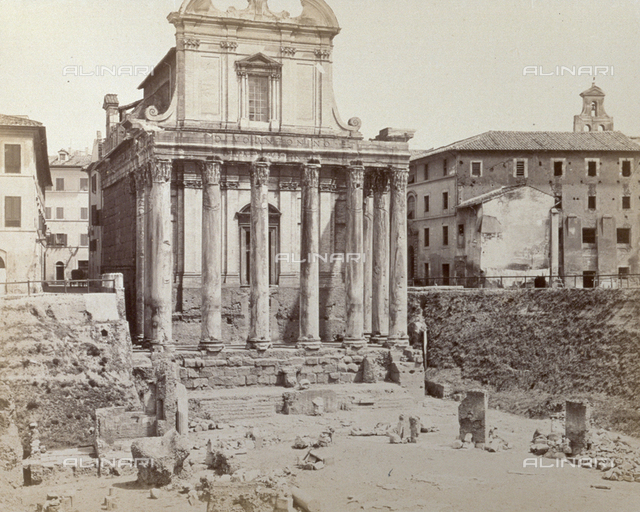 Temple of Antoninus and Faustina, now the Church of San Lorenzo in Miranda, Roman Forum, Rome