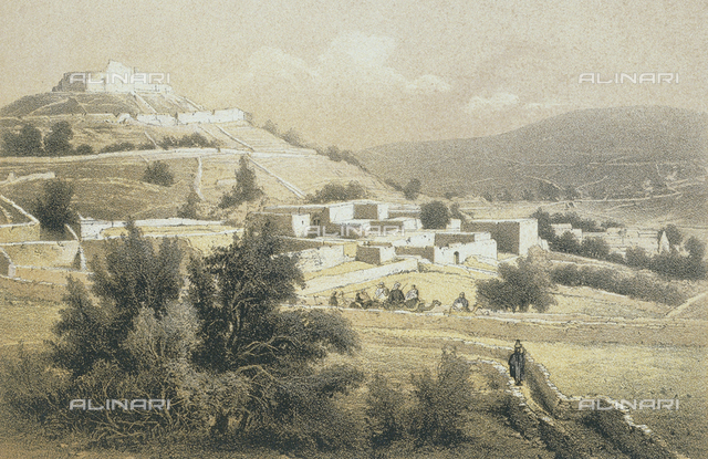 View of Safed, engraving