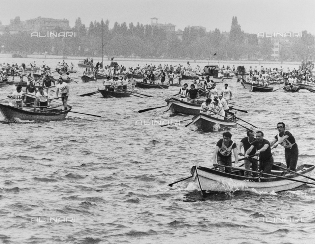 Regatta in the lagoon of Venice