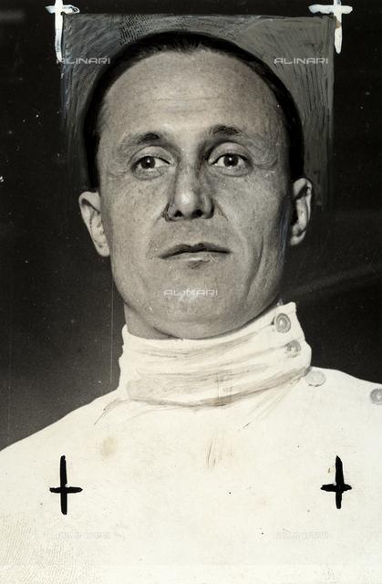 The Italian fencing champion Nedo Nadi.