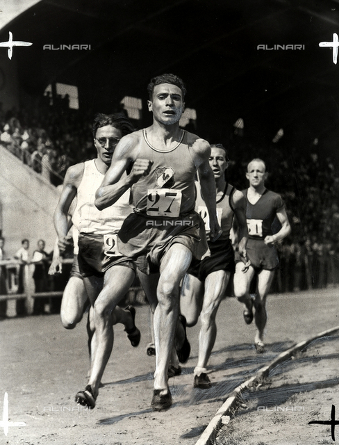 The athlete Goise during a foot-race