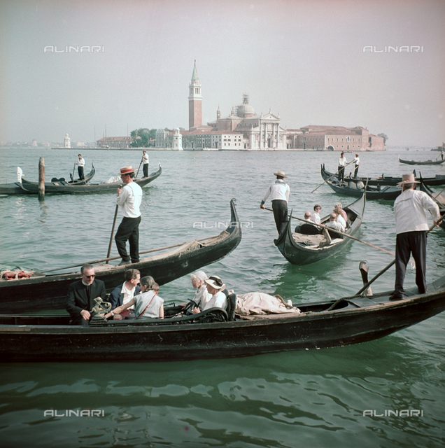 Gondoliers in Venice