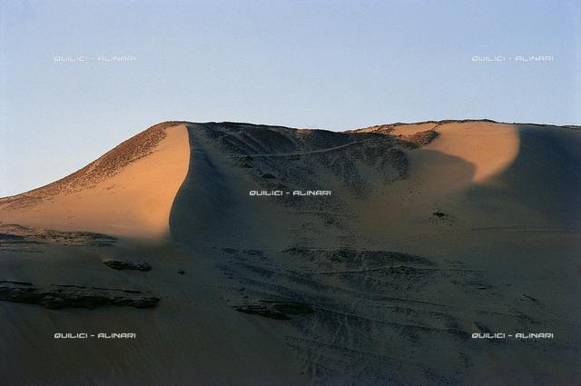 The red sands of the Sahara Desert