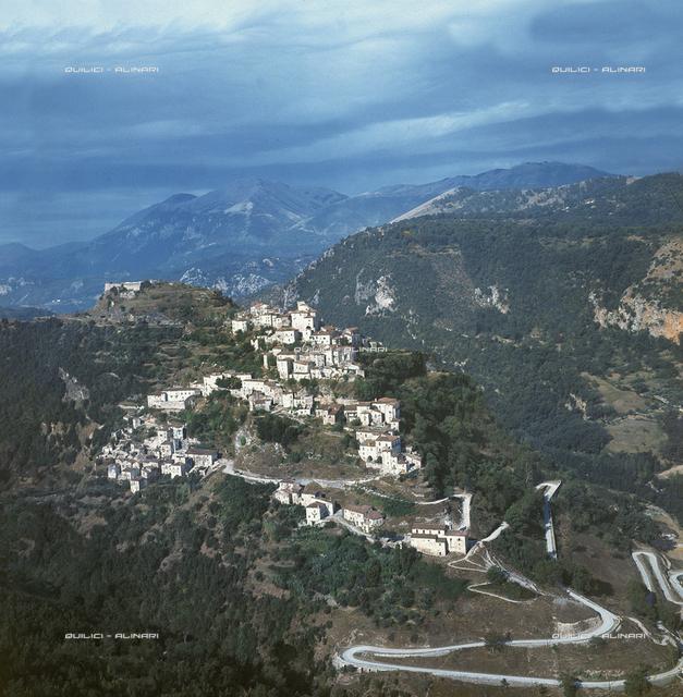 The town of Castelluccio Superiore in the Valley of Mercuri