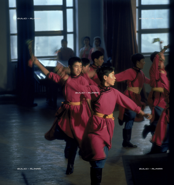 Exercises at a ballet school of Peking, 1969, Peking (Beijing)