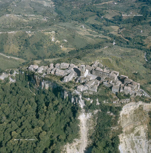 Aerial view of Civita di Bagnoregio