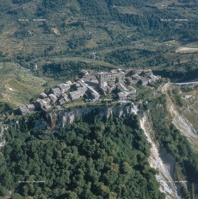 Aerial view of Civita di Bagnoregio