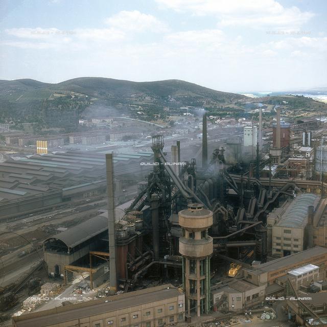 Piombino, industrial area bordering the port