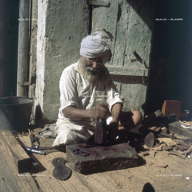 A cobbler in Amritsar, state of Punjab