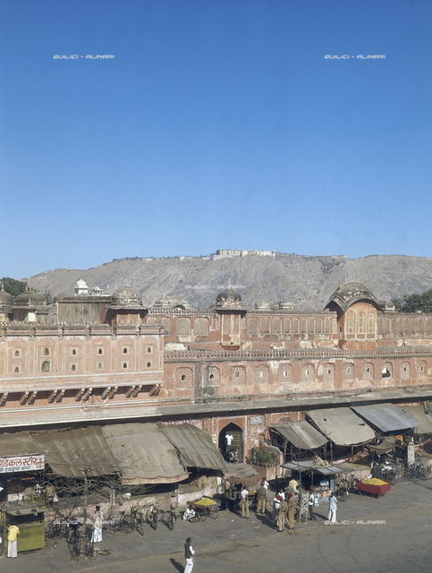 View of the street of Jaipur, state of Rajashthan