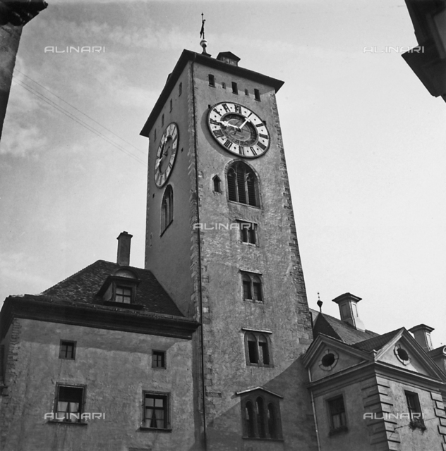 Clock tower of Regensburg