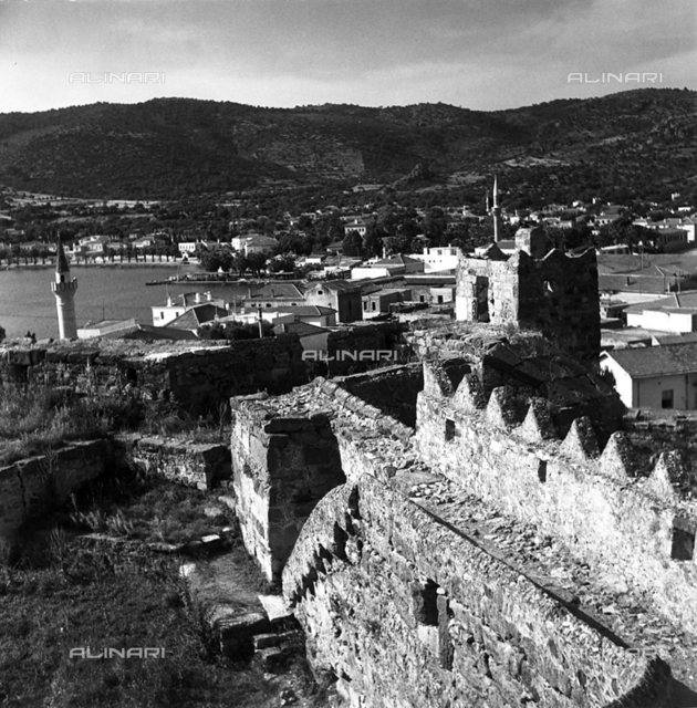 View of Bodrum, ancient Alicarnassus, from the Castle of the Crusades or Castle of St. Peter
