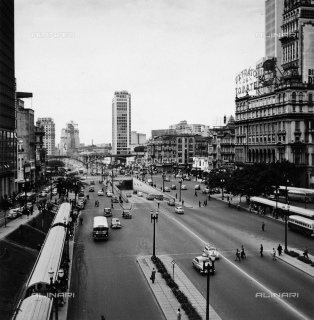 Avenida in the center of Sao Paulo, Brazil