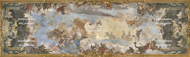 Milano-Palazzo Clerici-Galleria degli Arazzi-Volta-La corsa del Carro del sole tra divinità dell'Olimpo