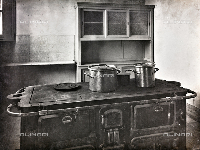 Kitchen at a school in Rome