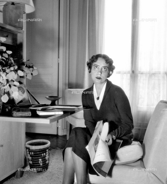 Elsa Schiaparelli, French needlewoman of Italian origin, in 1936