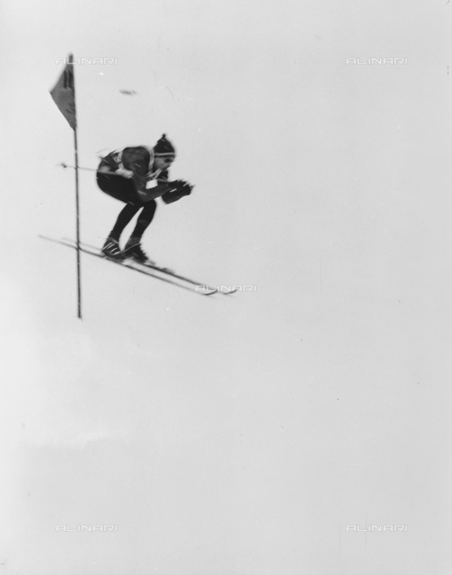 Skier during a competition