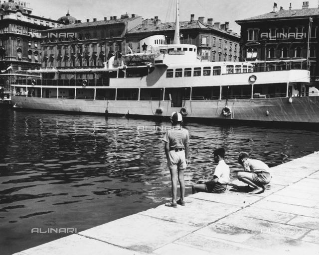 The port of Rijeka (River) in Croatia