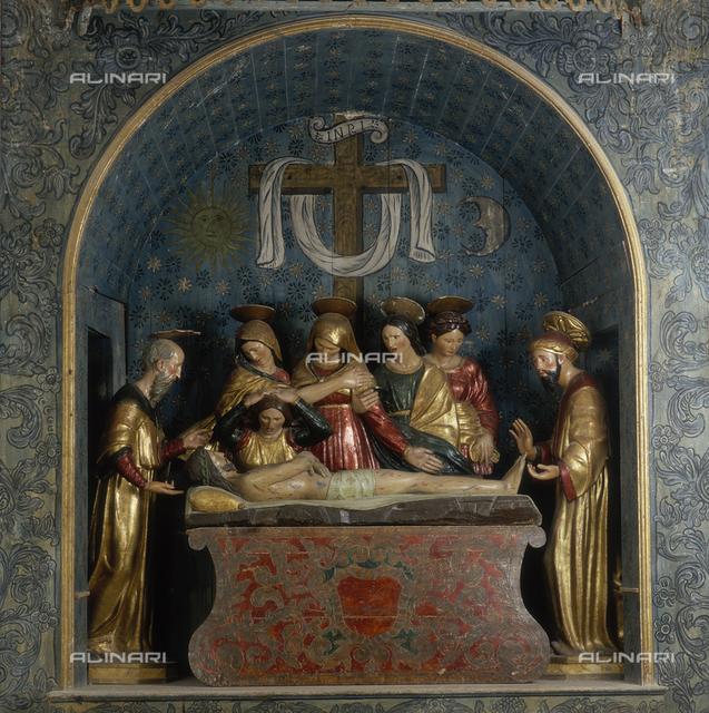 Compianto sul Cristo morto, legno policromo, Chiesa Parrocchiale di S. Vito martire, Gergei, Nuoro