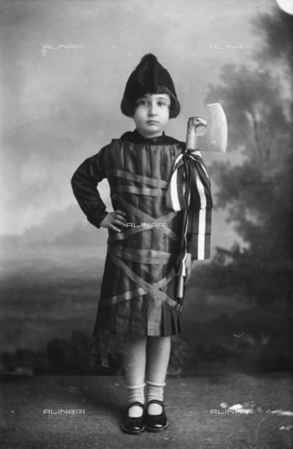 Ada Trombetta in fascist uniform