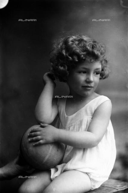 Portrait of little Aldo Sabelli
