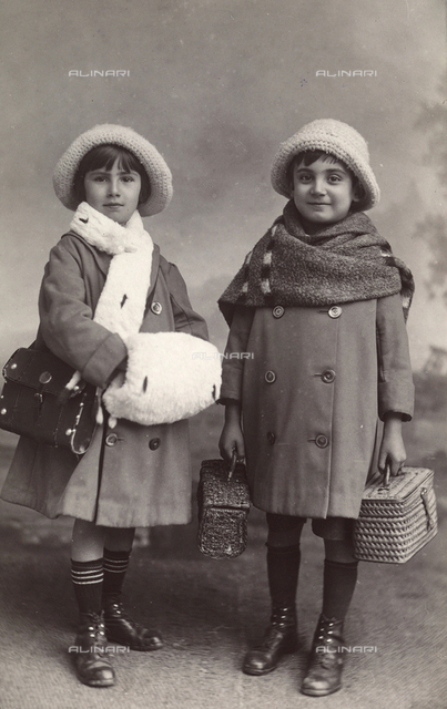 Couple of children in costume