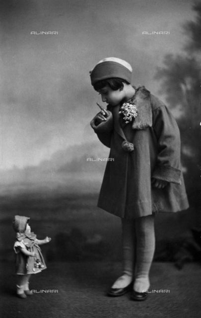 Ada Trombetta with a doll