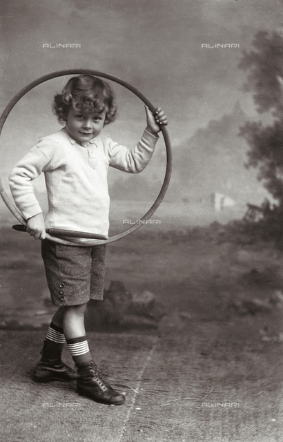Portrait of a child with hoop