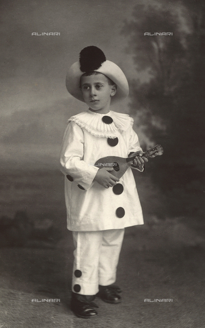 Portrait of Enrico De Amicis dressed as Pierrot