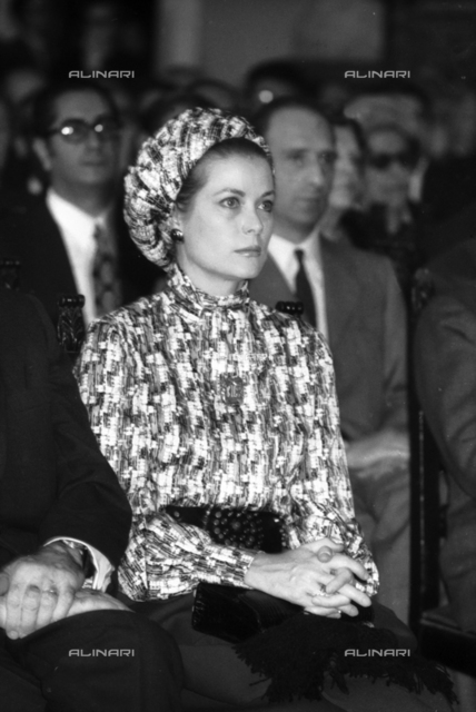 Grace of Monaco (Grace Kelly 1929-1982) visiting the Capitol in Rome